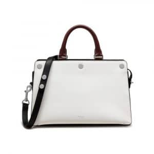 Mulberry Black/Oxblood/White Smooth Calf and Shiny Goat Chester Bag