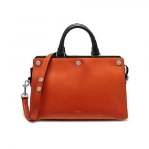 Mulberry Bright Orange Smooth Calf Chester Bag