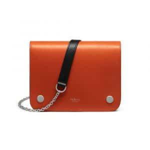 Mulberry Bright Orange Smooth Calf Clifton Bag