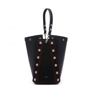 Mulberry Midnight Felt and Smooth Calf with Studs Camden Bag