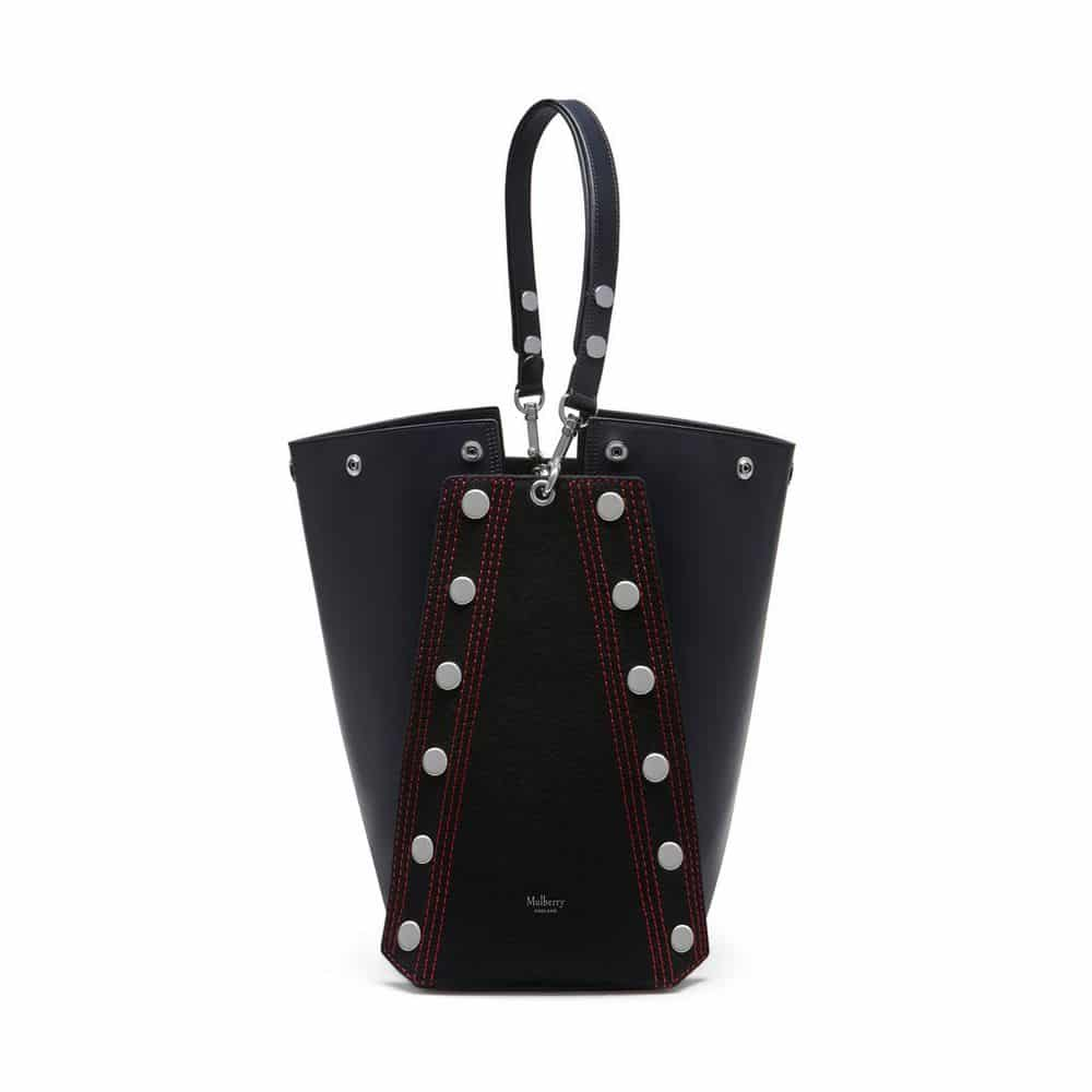 6616f19f1a Mulberry Midnight Felt and Smooth Calf with Studs Camden Bag