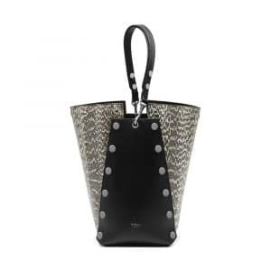 Mulberry Natural Snakeskin with Studs Camden Bag