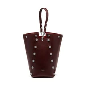 Mulberry Oxblood Smooth Calf with Studs Camden Bag