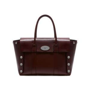 Mulberry Oxblood Smooth Calf with Studs New Bayswater Bag