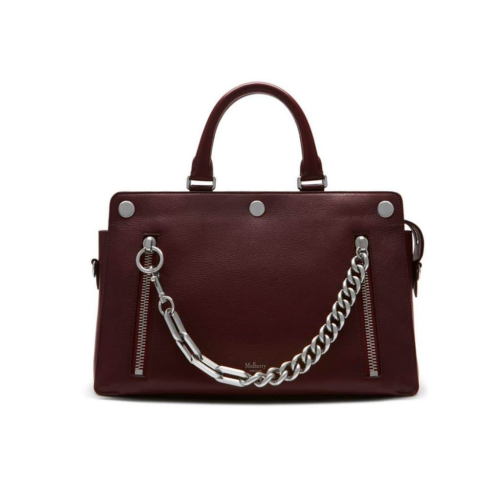 Mulberry Oxblood Smooth Calf With Zips Chester Bag