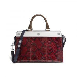 Mulberry Scarlet Ayers Snakeskin Chester Bag