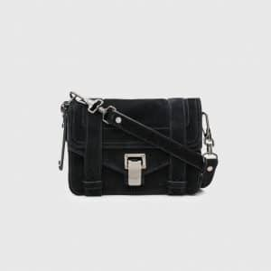 Proenza Schouler Black Suede PS1 Mini Crossbody Bag