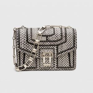 Proenza Schouler Black/White Elaphe Hava Chain Bag
