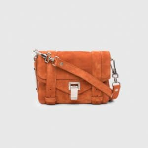 Proenza Schouler Mahogany Suede PS1 Mini Crossbody Bag