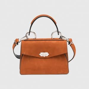 Proenza Schouler Mahogany Suede Small Hava Top Handle Bag