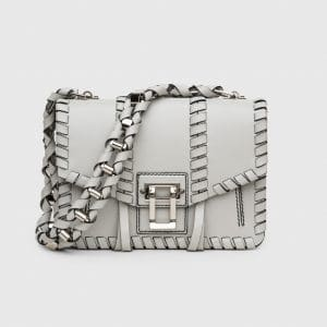 Proenza Schouler Pale Steel Whipstitch Hava Chain Bag