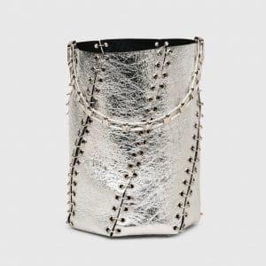 Proenza Schouler Silver Metallic with Grommet Medium Hex Bucket Bag