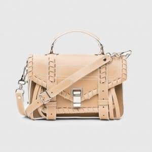 Proenza Schouler Warm Sand Whipstitch PS1 Tiny Bag