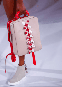 Anya Hindmarch Beige/Red Top Handle Bag - Spring 2017
