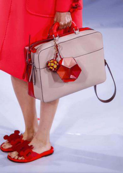 Anya Hindmarch Beige Red Weekend Bag Spring 2017