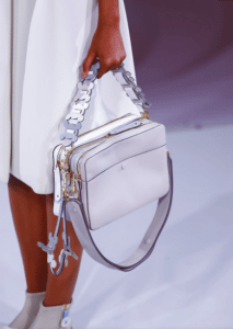 Anya Hindmarch Gray/White Stack Shoulder Bag - Spring 2017