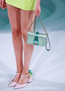 Anya Hindmarch Green Metallic Bathurst Shoulder Bag - Spring 2017