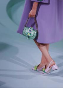 Anya Hindmarch Green Metallic Mini Vere Bag - Spring 2017