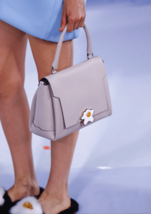 Anya Hindmarch Gray with Egg Detail Bathurst Satchel Bag - Spring 2017
