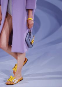 Anya Hindmarch Lilac Clutch Bag - Spring 2017
