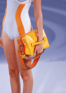 Anya Hindmarch Orange/Yellow Stack Shoulder Bag - Spring 2017