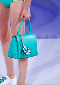 Anya Hindmarch Turquoise Bathurst Satchel Bag - Spring 2017