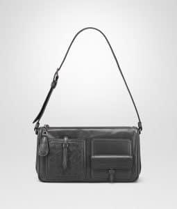 Bottega Veneta Ardoise Calf Leather with Intrecciato Shoulder Bag