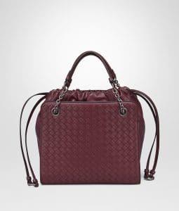 Bottega Veneta Barolo Nappa with Intrecciato Small Tote Bag