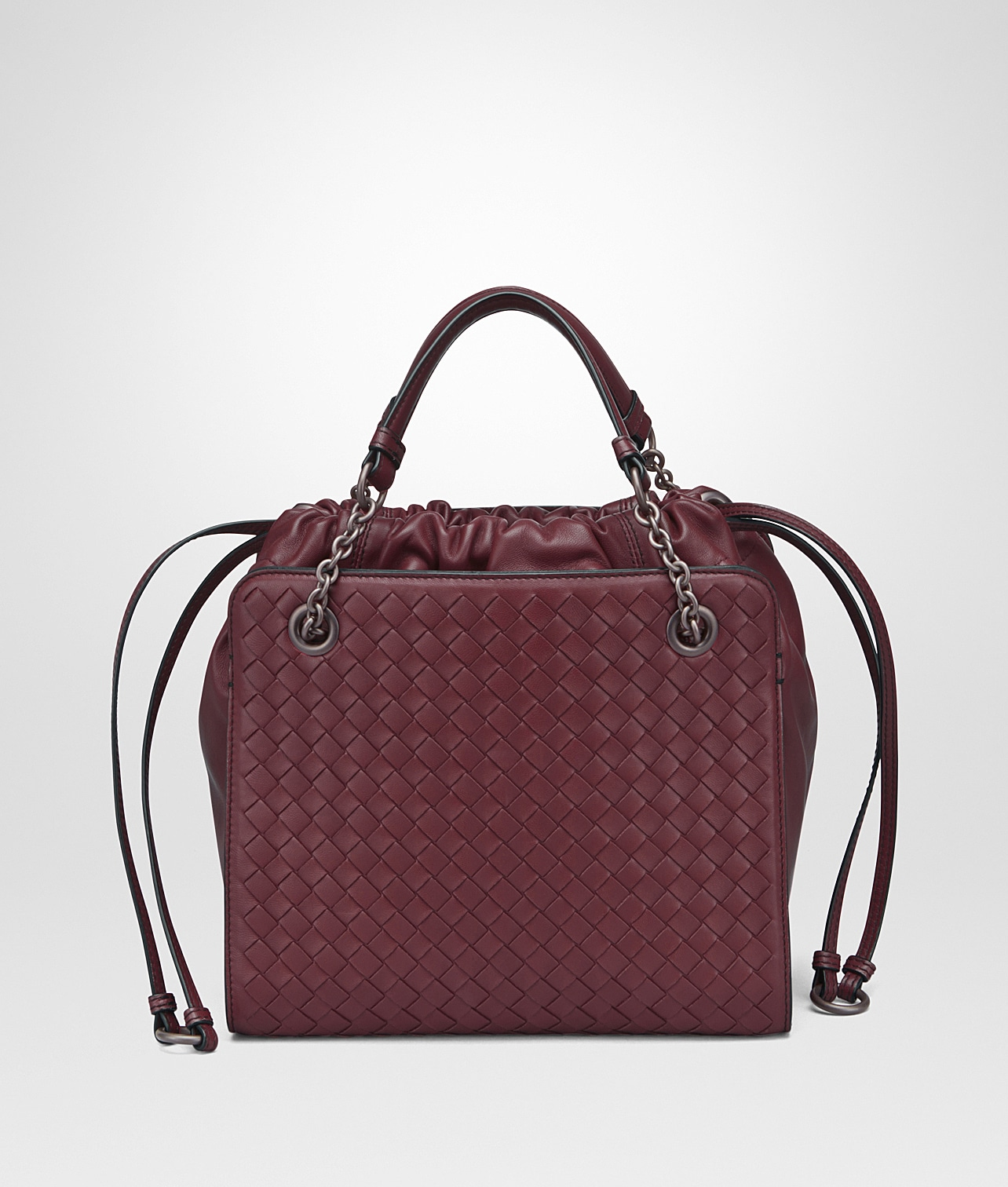 Bottega Veneta Barolo Nappa with Intrecciato Small Tote Bag a2e42da502d93