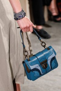 Bottega Veneta Blue Flap Bag - Spring 2017