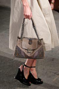 Bottega Veneta Brown Ostrich Shoulder Bag - Spring 2017
