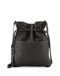 Bottega Veneta Gray Intrecciato Medium North-South Bucket Bag