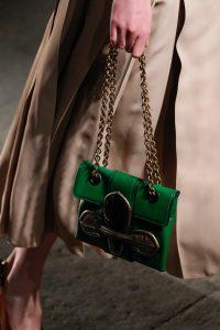 Bottega Veneta Green Mini Flap Bag - Spr