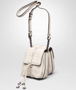 Bottega Veneta Mist Nappa Intrecciato Double Micro Shoulder Bag