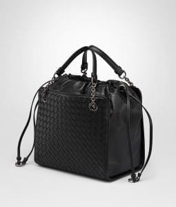 Bottega Veneta Nero Nappa with Intrecciato Small Tote Bag