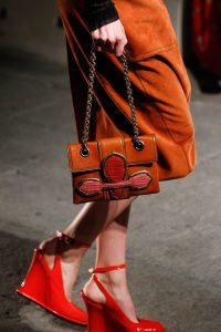 Bottega Veneta Orange Mini Flap Bag - Spring 2017