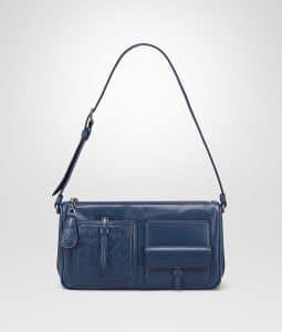 Bottega Veneta Pacific Calf Leather with Intrecciato Shoulder Bag