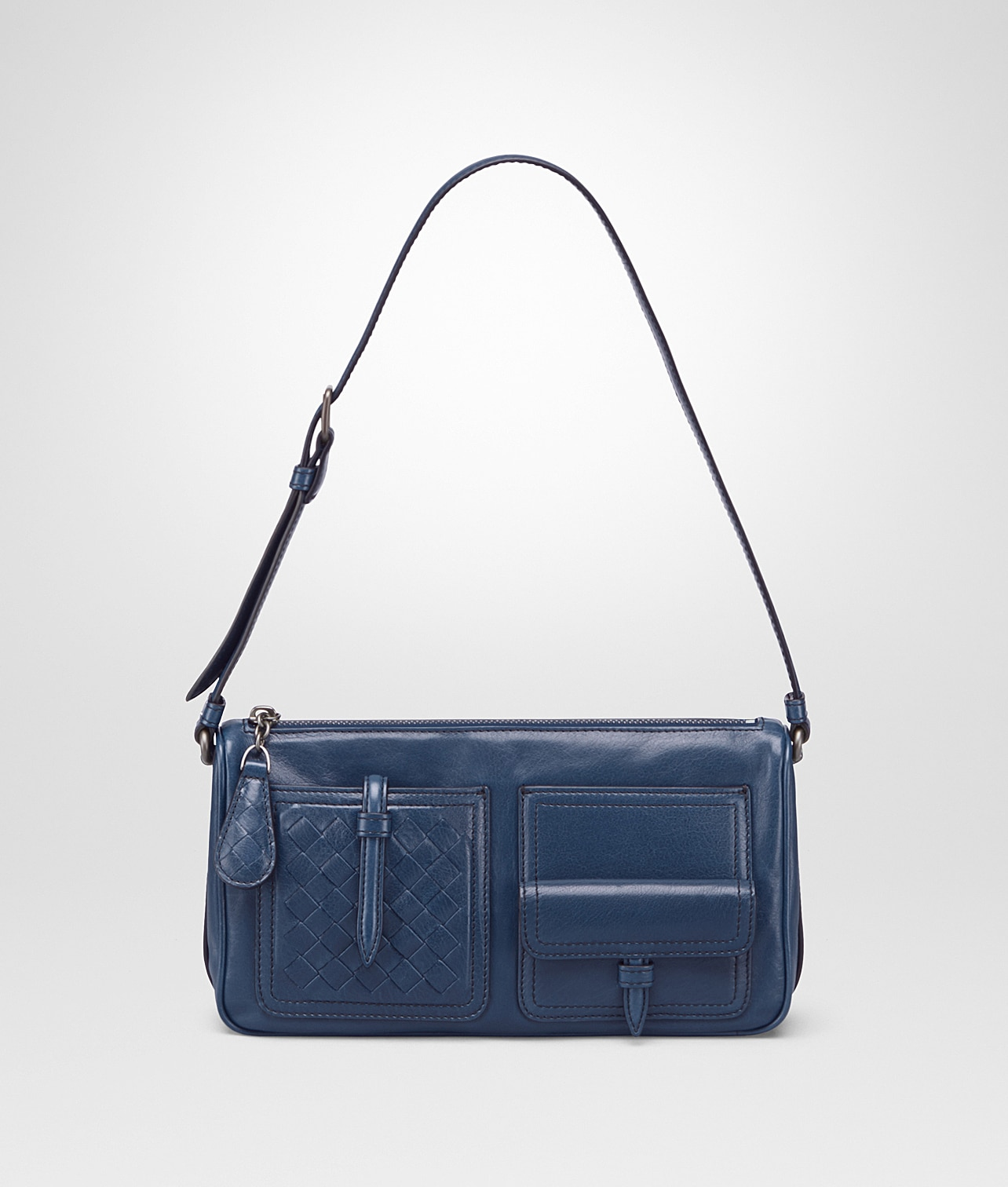 b4bfa777aec3 Bottega Veneta Pacific Calf Leather with Intrecciato Shoulder Bag