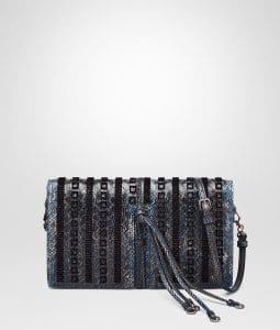 Bottega Veneta Pacific Intrecciato Embroidered Karung Clutch Bag