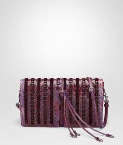 Bottega Veneta Peony Intrecciato Embroidered Karung Clutch Bag