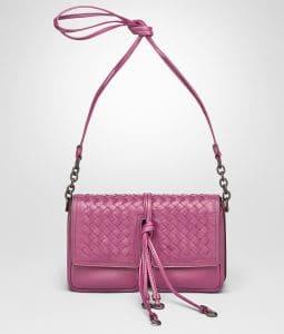 Bottega Veneta Peony Nappa Intrecciato Shoulder Bag