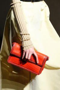 Bottega Veneta Red Crocodile Clutch Bag - Spring 2017