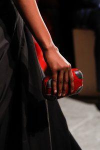 Bottega Veneta Red Crocodile Knot Clutch Bag - Spring 2017
