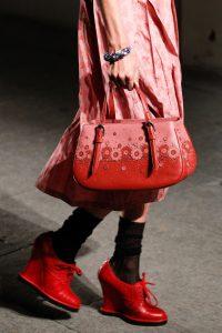 Bottega Veneta Red/Pink Floral Top Handle Bag - Spring 2017