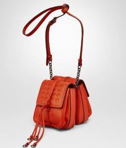 Bottega Veneta Vesuvio Nappa Intrecciato Double Micro Shoulder Bag