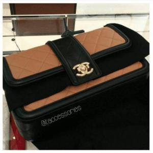 Chanel Beige and Black Elegant CC Flap Bag 2