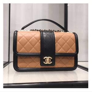 Chanel Beige and Black Elegant CC Flap Bag 3