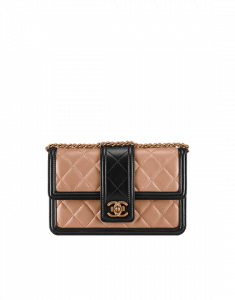 Chanel Beige and Black Elegant CC WOC Bag