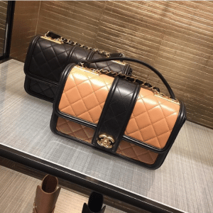 Chanel Beige/Black and Black Elegant CC Small Flap Bags