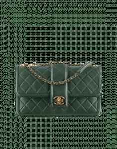Chanel Dark Green Elegant CC Flap Bag